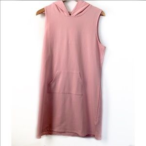 Love, Fire pink hooded sweater dress size large